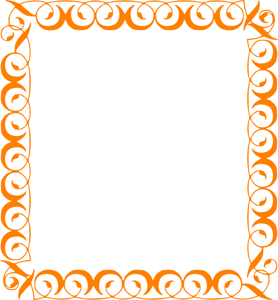Fun borders png. Orange border clip art