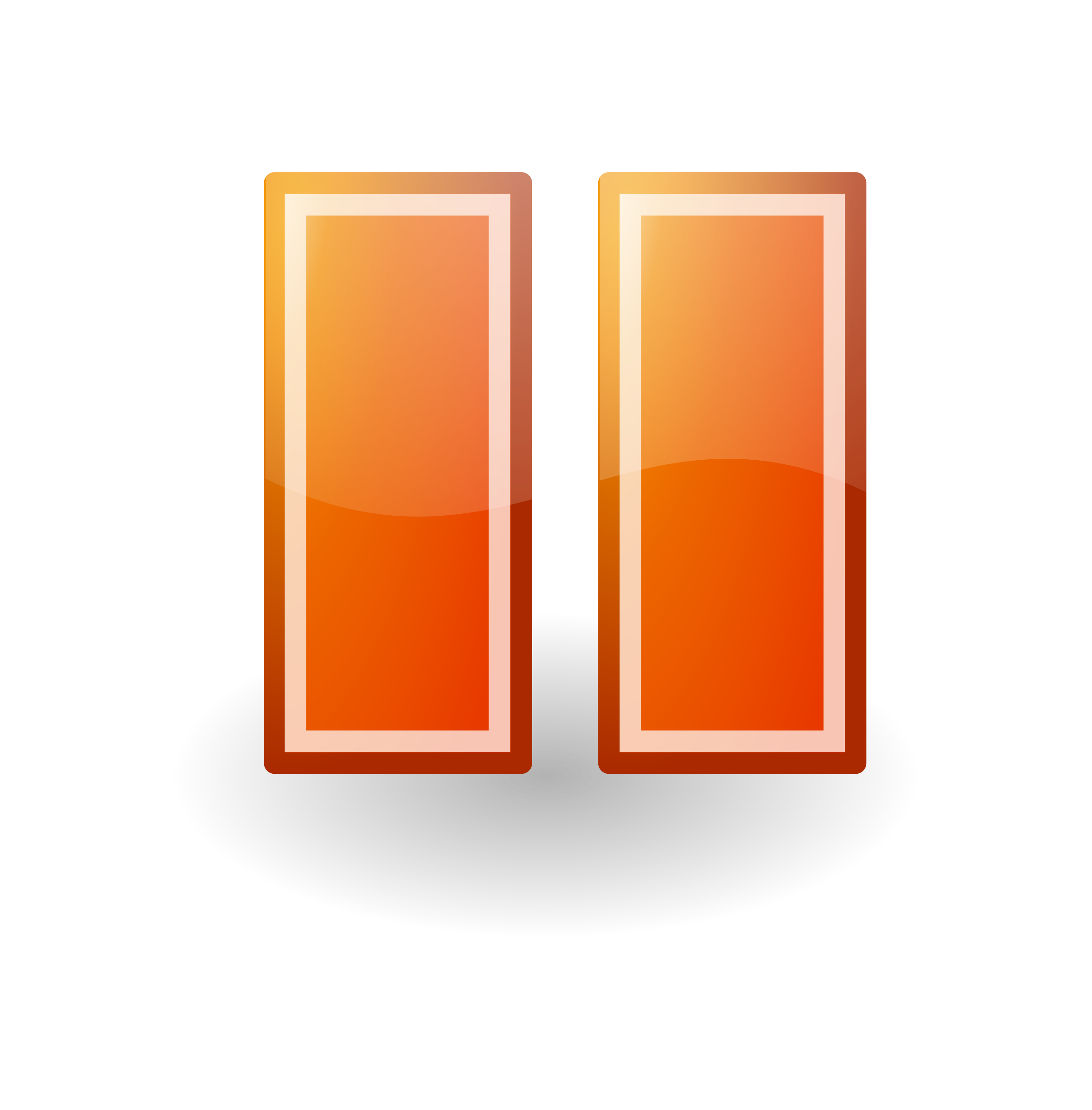 Orange button png. Pause tango style icons