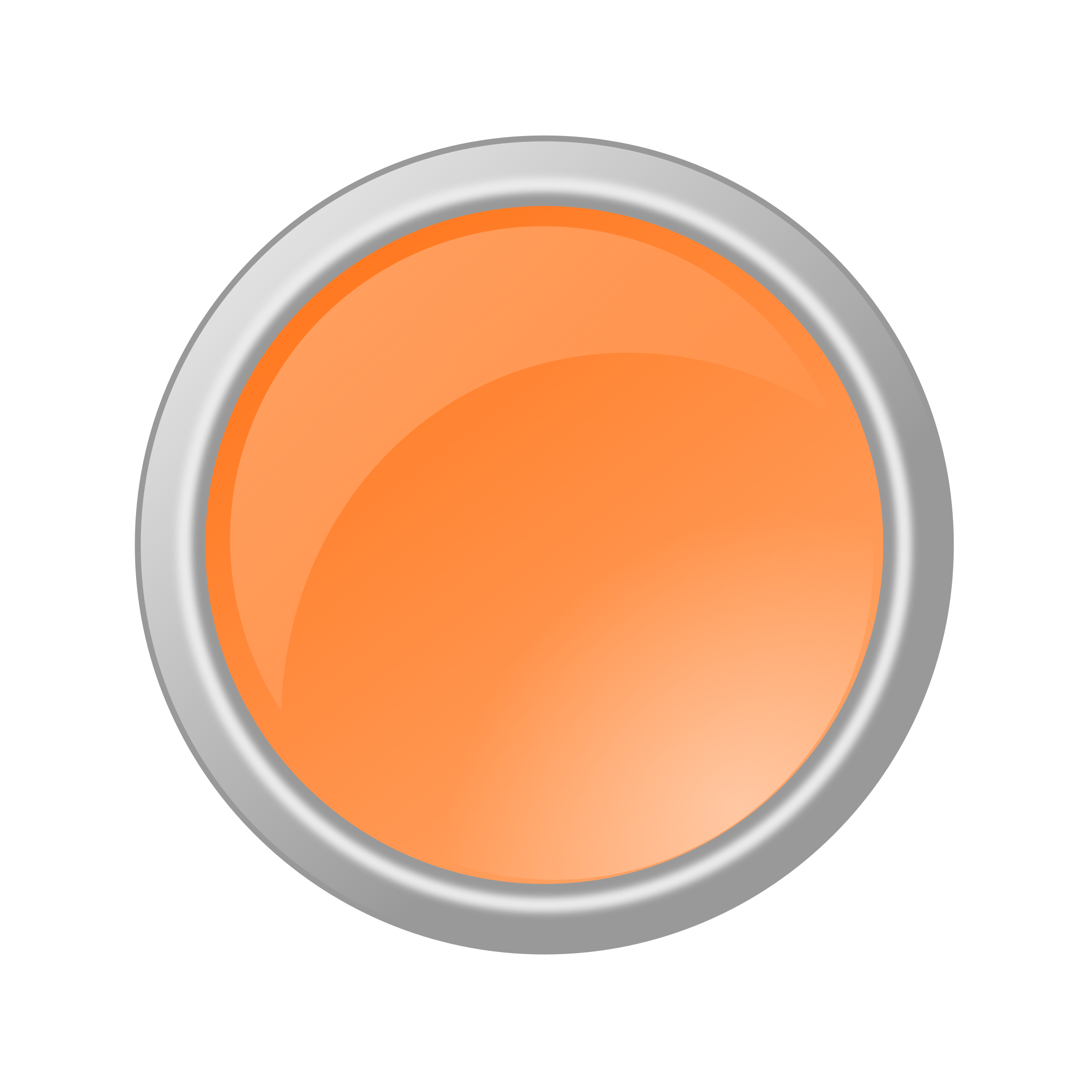 Orange button png. Glossy light icons free