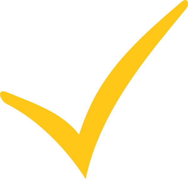 Orange check mark png. Yellow tick space clip