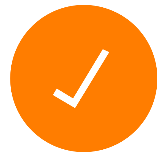 Orange check mark png. Simply by helge kristoffer
