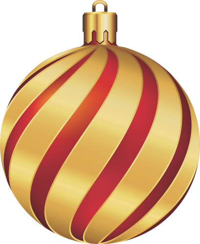 Christmas gold and red. Ornaments clipart yellow ornament freeuse library