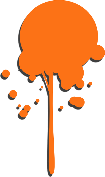 Orange drip png. Paint clip art at