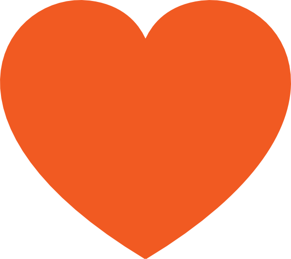Orange heart png. Free pictures hearts clip