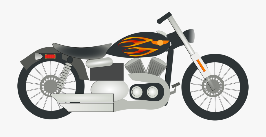 Orange motorcycle. Clipart transparent free cliparts