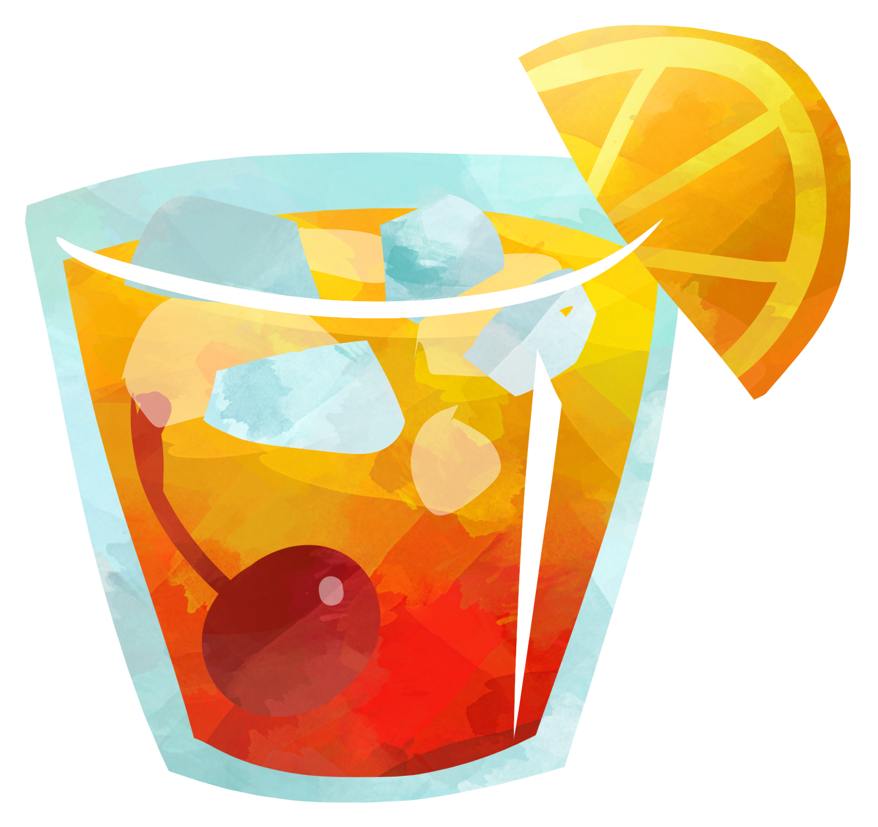 Orange slice cocktail