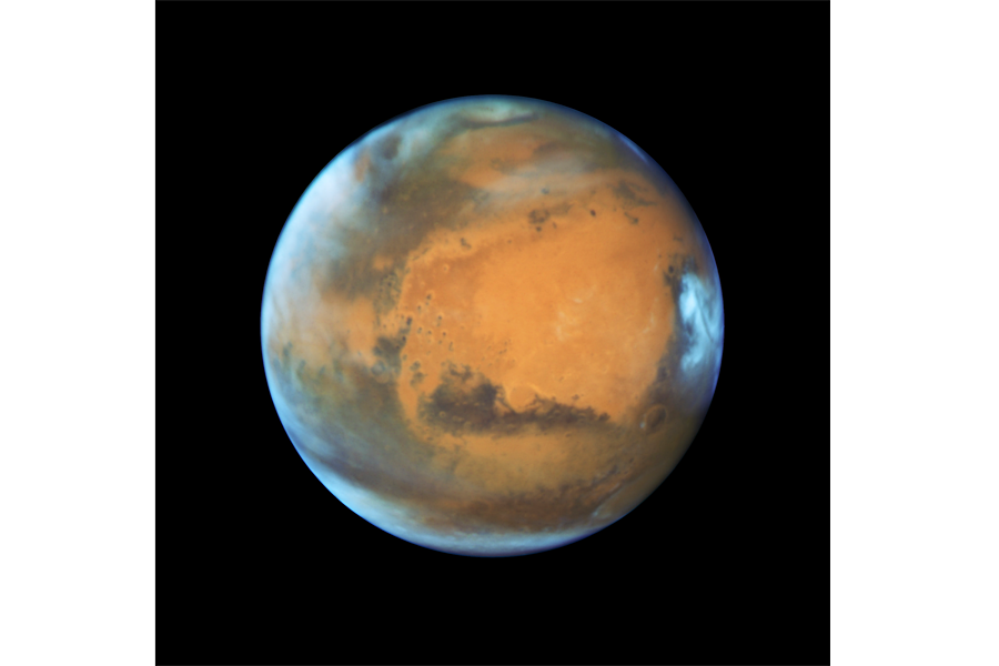 Orange star picture by nasa png. Mars illuminated in sunlight