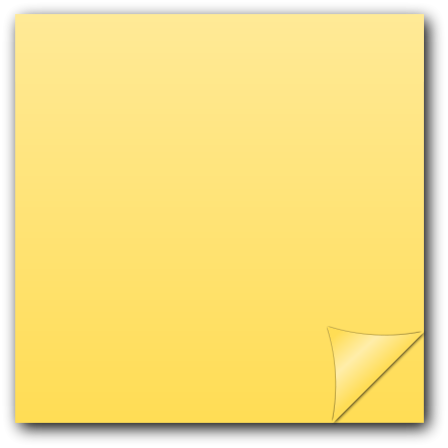 Orange sticky note png.