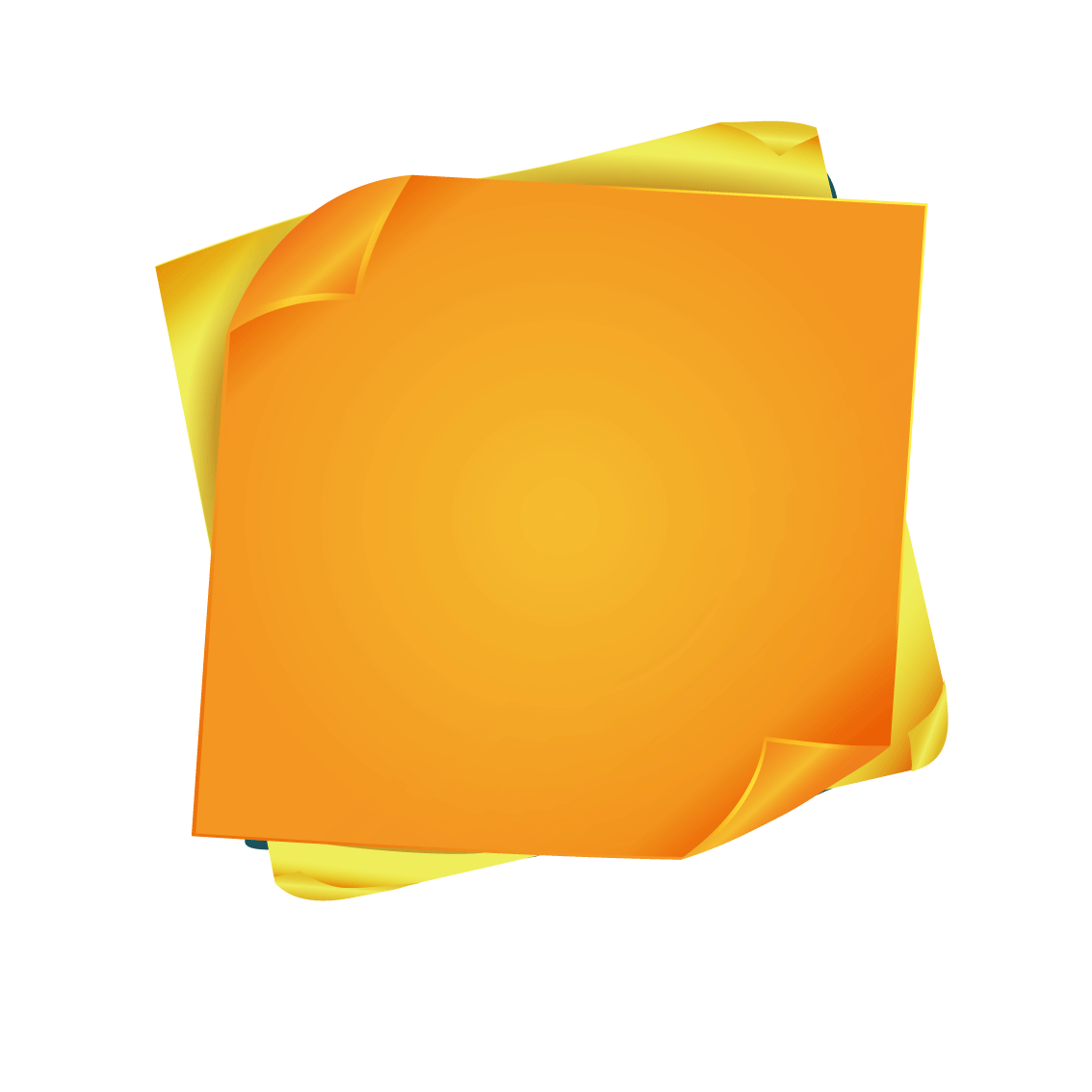 Note paper sticker icon. Colorful post it notes png picture black and white stock