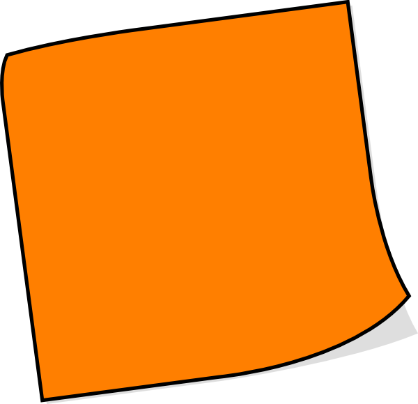 Orange sticky note png. Clip art at clker