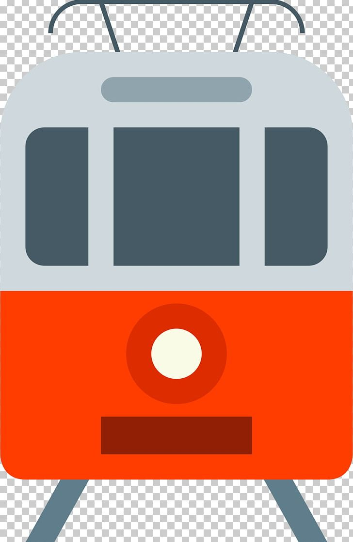 Orange tram. Route computer icons png