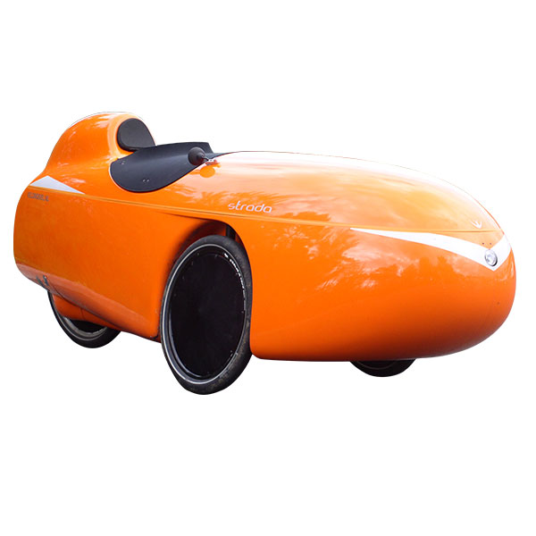Orange velomobile. V lomobiles cycles jv
