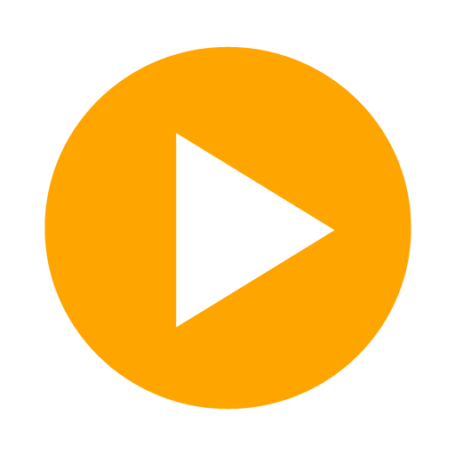 Orange video icon png. Play free icons clipart