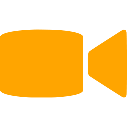 Orange video icon png. Call free icons