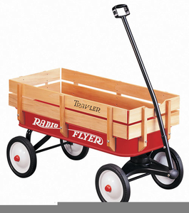 Orange wagon. Red clipart free images