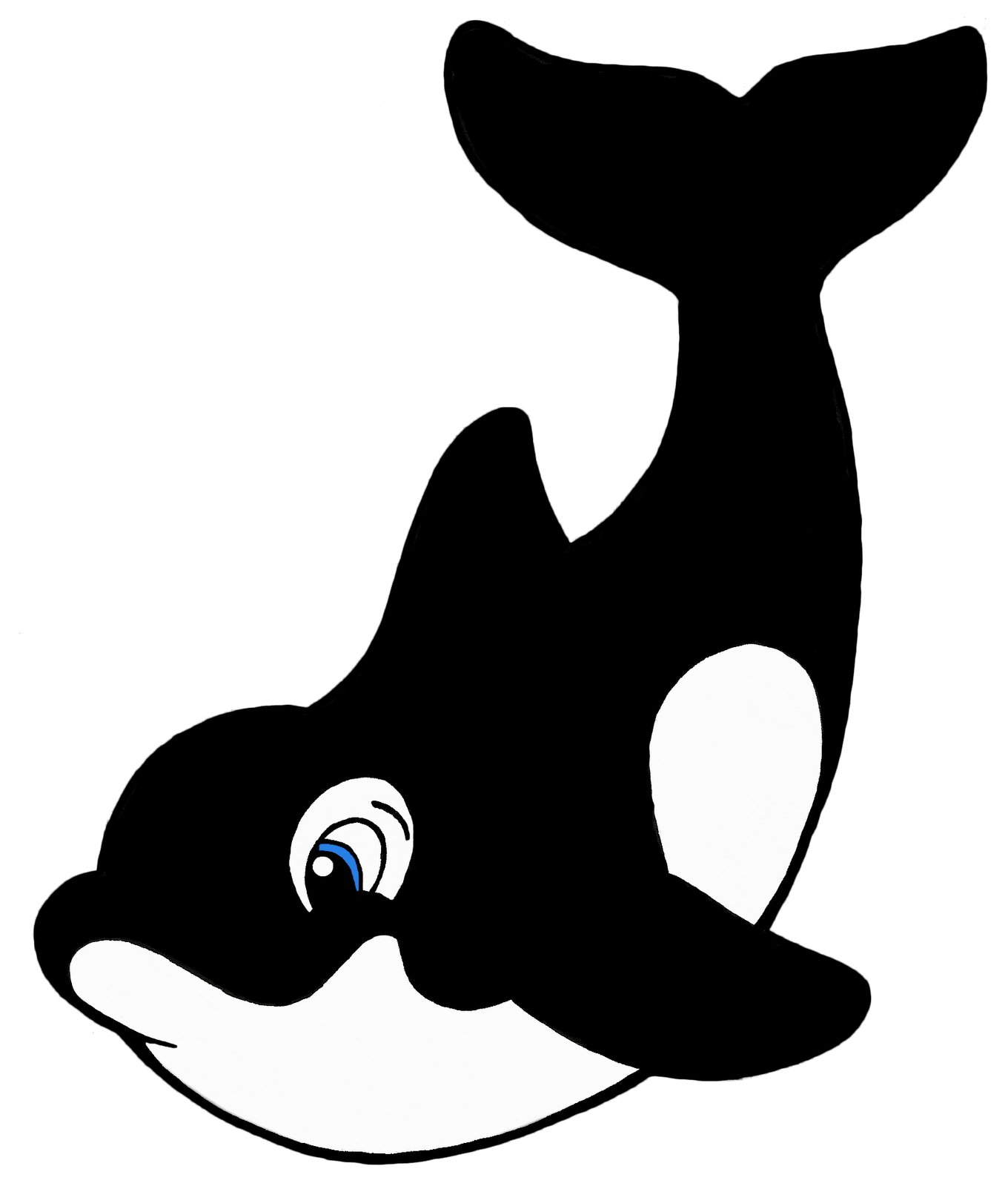 Orca clipart real whale. Black and white free