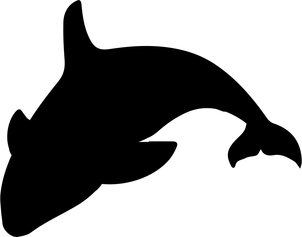 Orca transparent svg. Silhouette png icon free