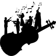 Orchestra clipart musica. Group panda free images