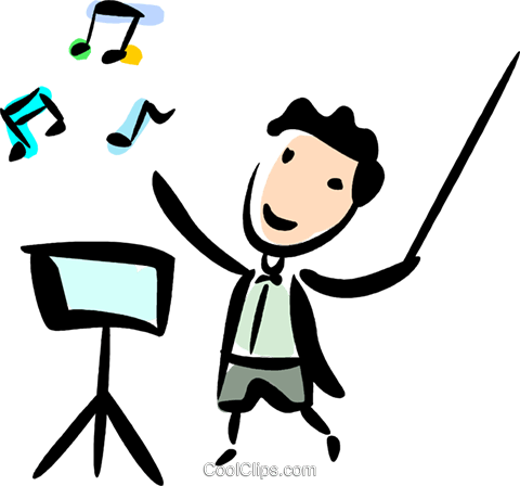 Orchestra clipart musica. Group conductors royalty free