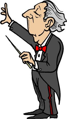 Orchestra clipart spring. Clip art of conductors