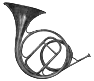 Drawing sound horns. A dictionary of music