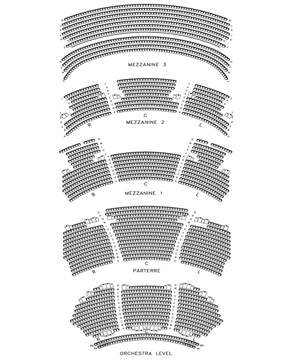 Orchestra drawing seating chart. Dolby theatre things charts