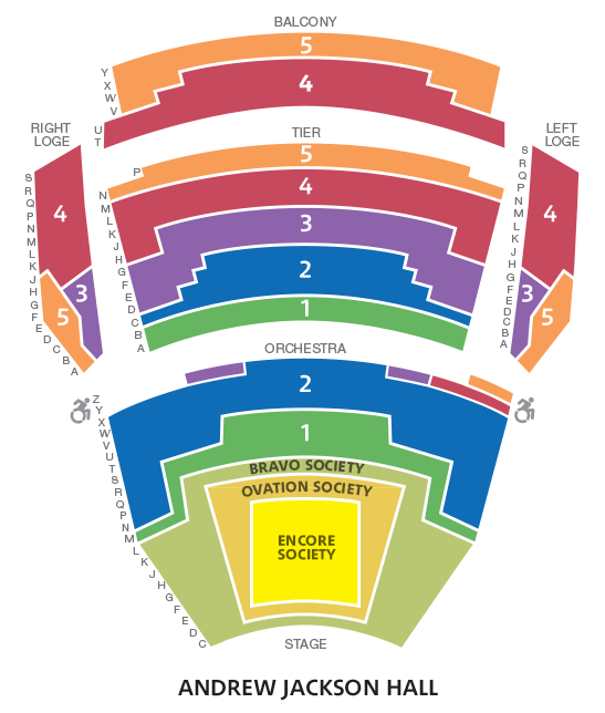 Orchestra drawing seating chart. Season tickets map and