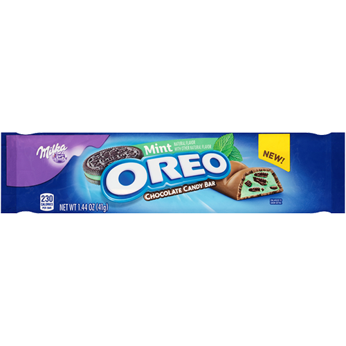 Oreo candy bar png. Milka mint chocolate oz