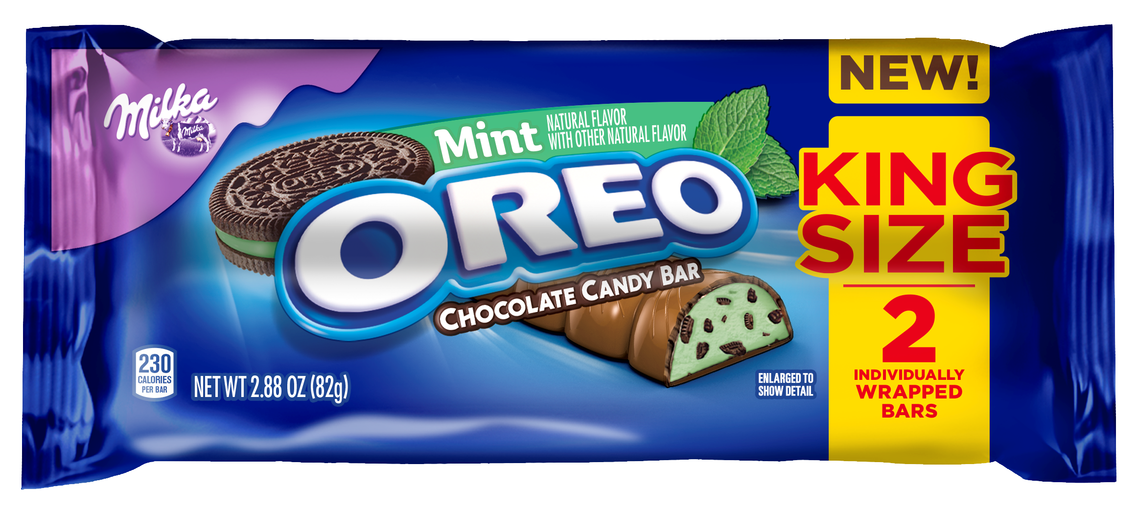Oreo candy bar png. Milka king size mint