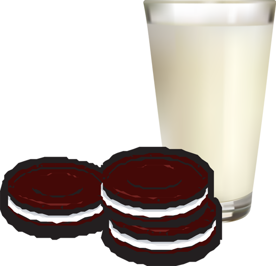 Oreo clipart clip art. Milk and cookies of
