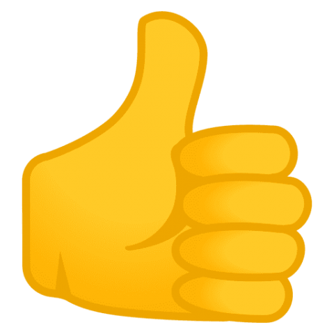 Thumbs up emoji png transparent. Download android oreo clipart