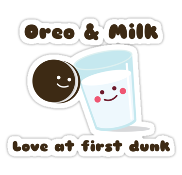 Oreo clipart sticker. Milk stickers by jamboula