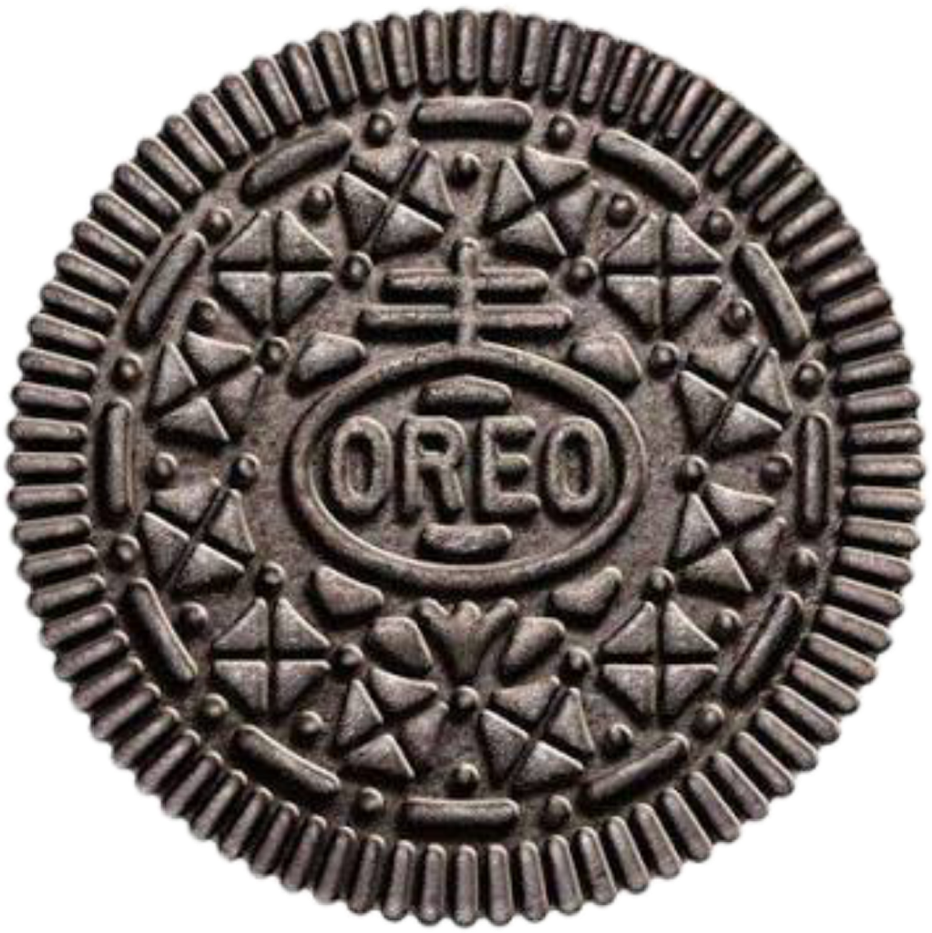 Oreo clipart sticker. Oreocookies cookie biscuit black