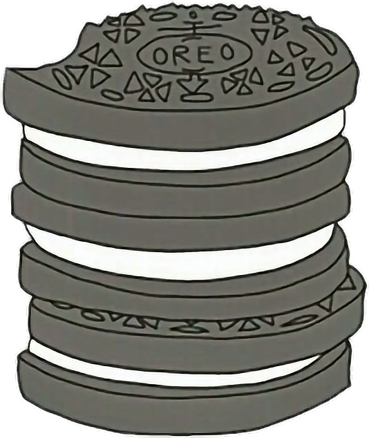 Oreo clipart sticker. Luv this tumblr yasss