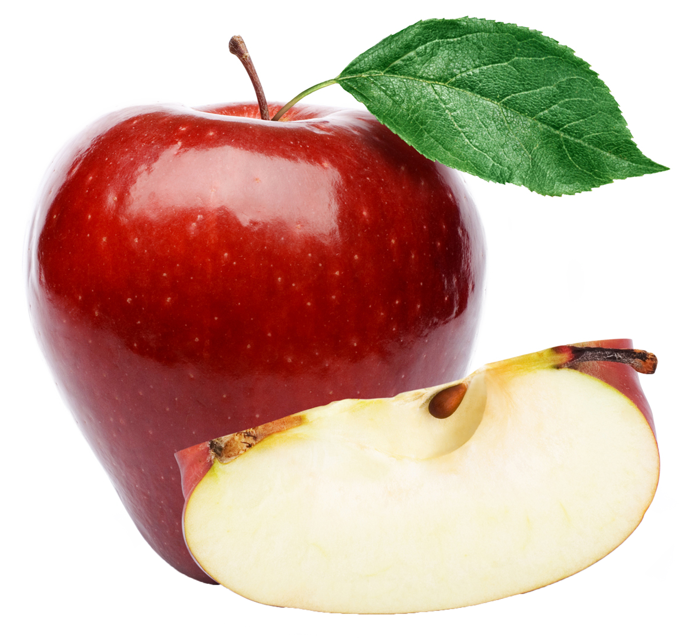 Organic apples png. Large red apple clipart