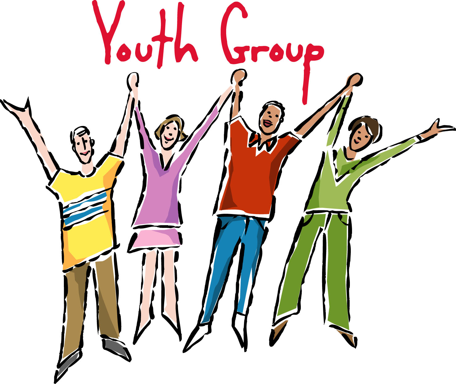 Organization clipart child youth worker. Pencil and in color