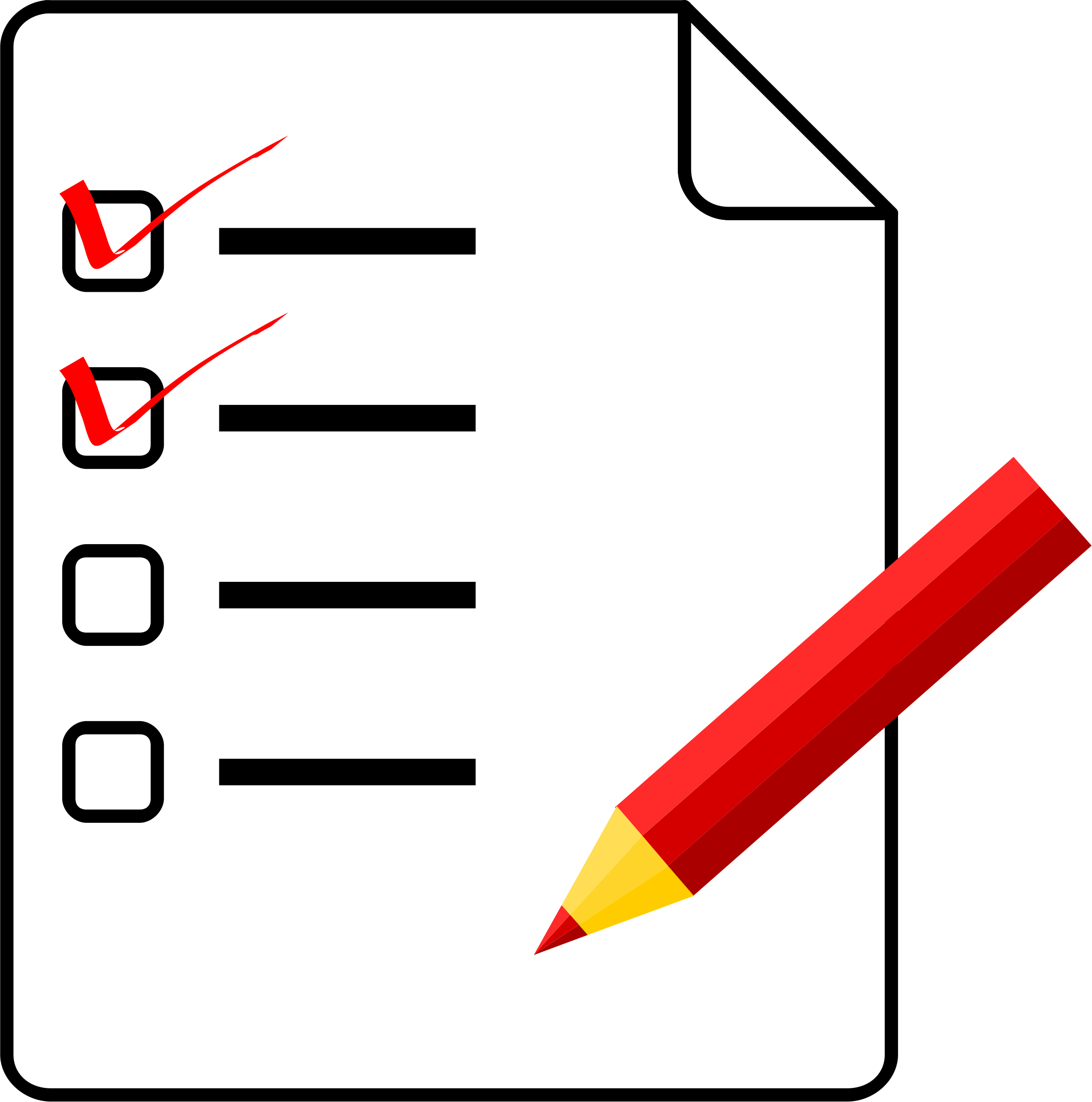 Checklist clipart thing.