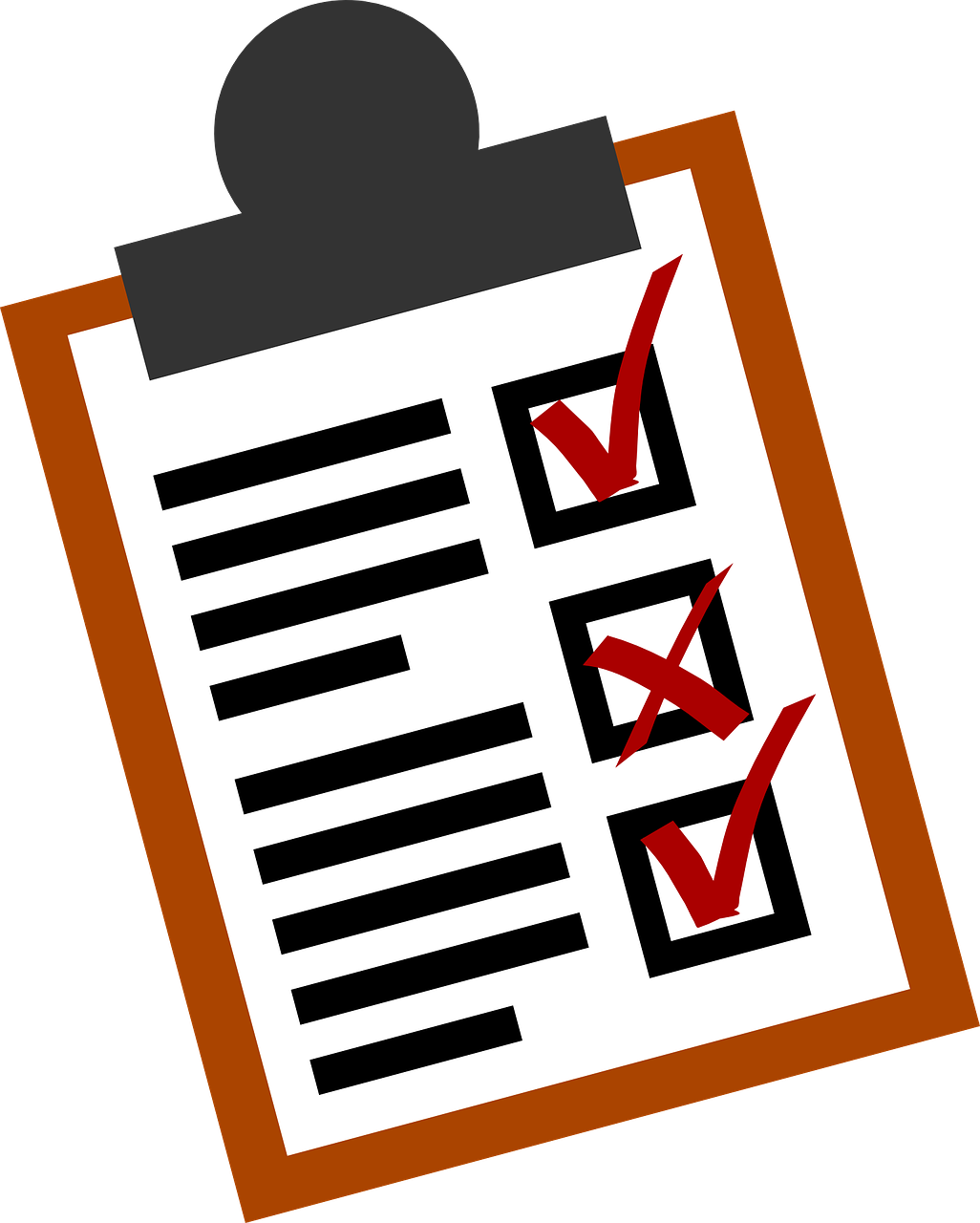 Organized clipart checklist. Retargeting a campaign settings