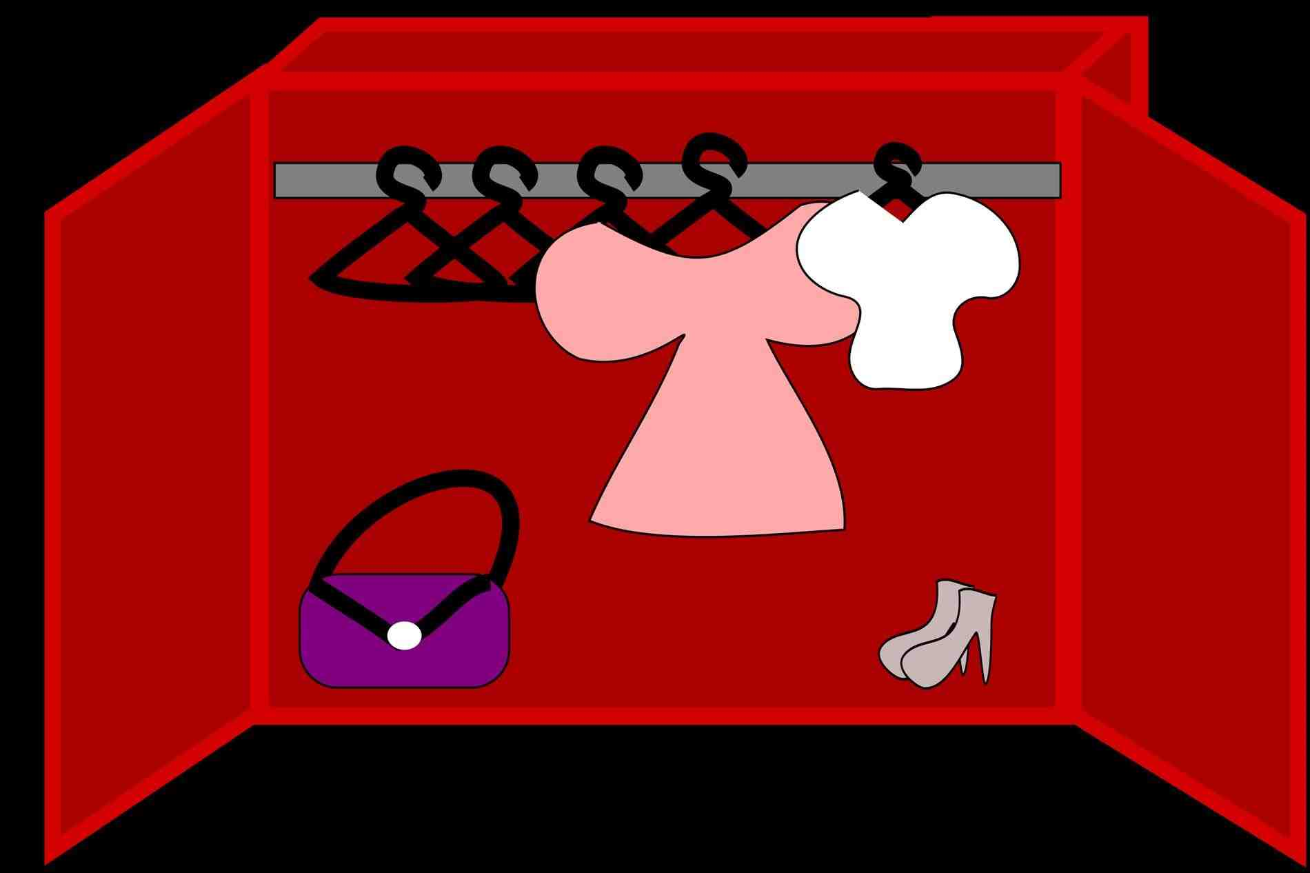 Clothing clipart closet full clothes. Kids on clipartbarn