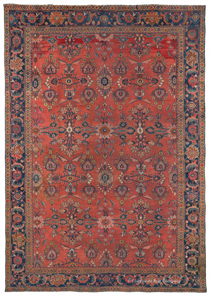 Oriental rug png. Antique mahal guide claremont
