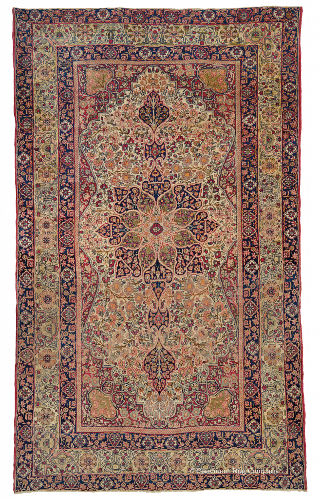 Oriental rug png. Room sized floral laver