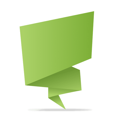 Banners vector png. Green origami banner transparent