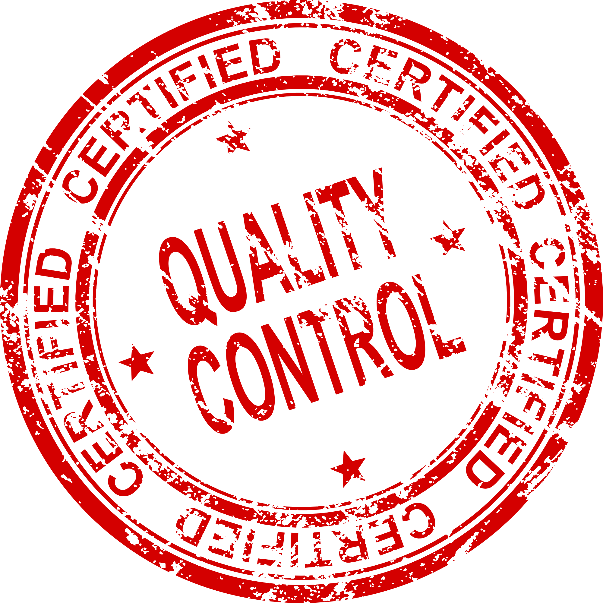 Control vector svg. Quality certified stamp