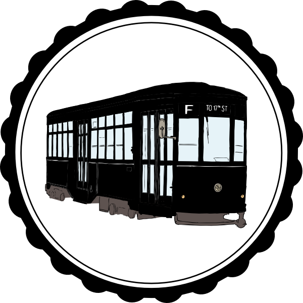 streetcar vector trolley car