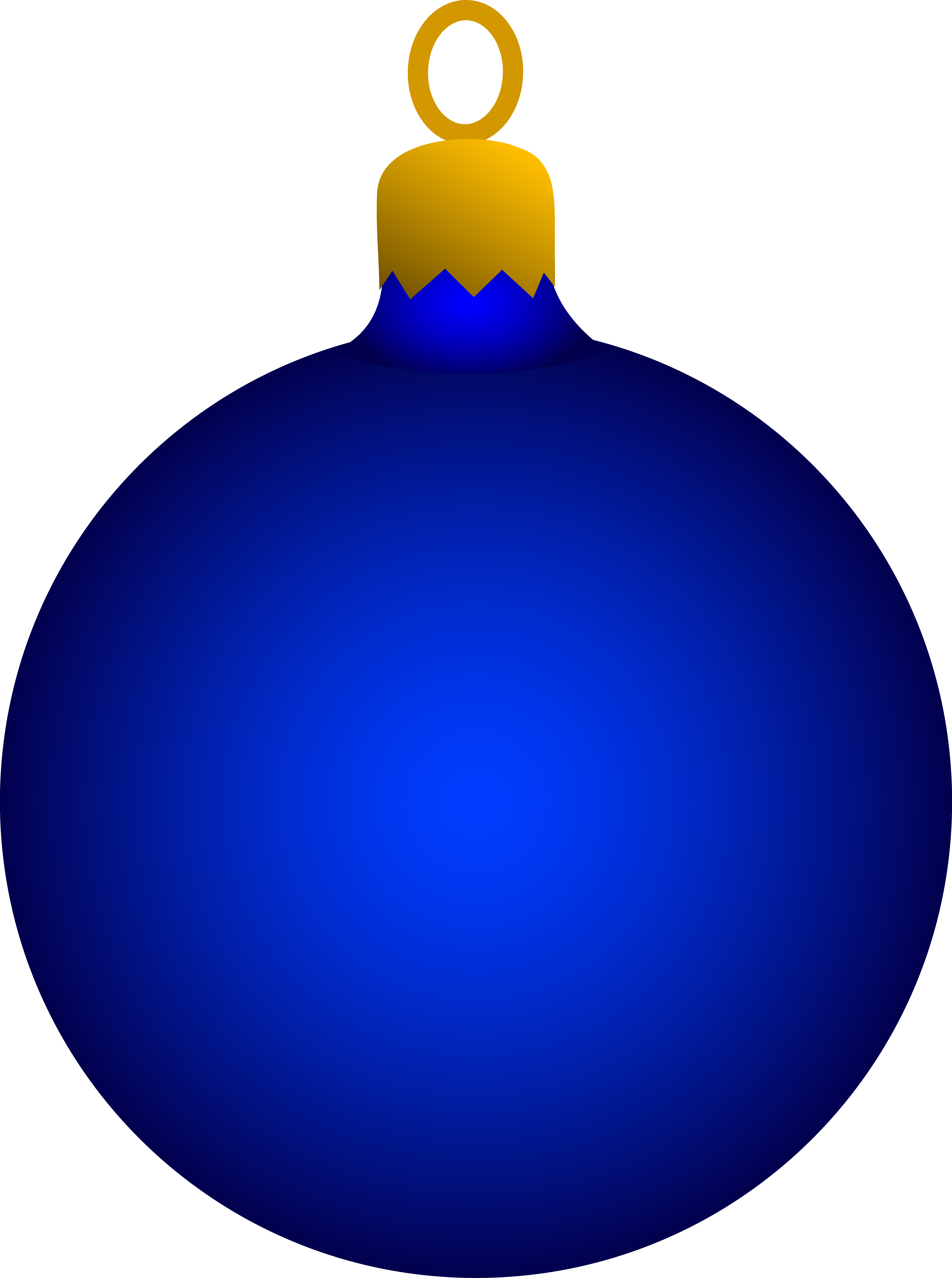 ornament transparent dark blue