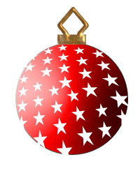 Ornaments red and white. Ornament clipart christmas tree ornament graphic stock