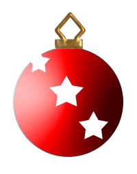 Ornament clipart christmas tree ornament. Ornaments red d with