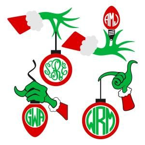 Ornament clipart grinch. Christmas hand with bulb
