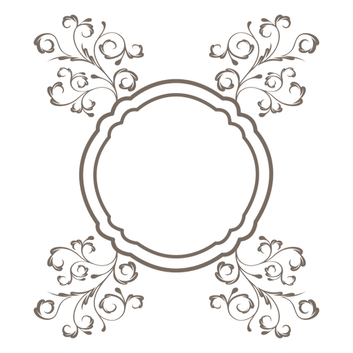 Frames svg floral. Ornament round frame transparent