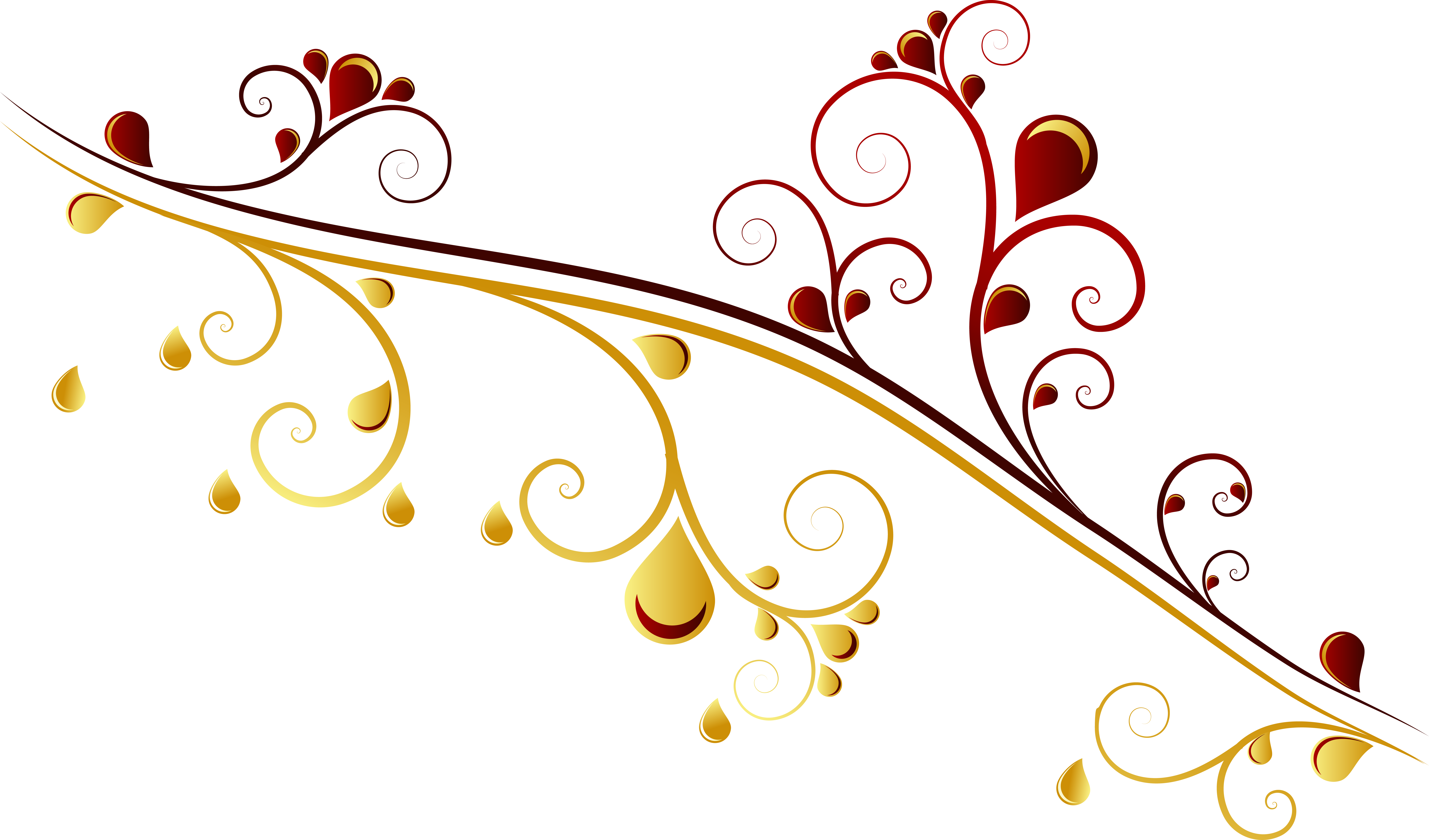 Ornament vector png. Gold euclidean red flower